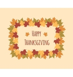 Greeting card for Thanksgiving Day with colorful vector image