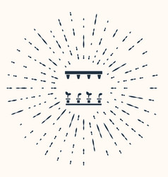 Grey automatic irrigation sprinklers icon isolated vector