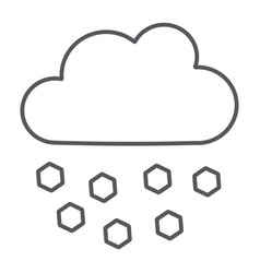 Hail line icon weather and meteorology cloud vector