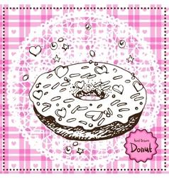 Hand Drawn Donut vector image
