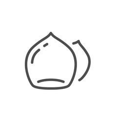 Hazelnut line icon vector