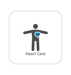 Heart Care and Medical Services Icon vector