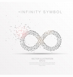 infinity symbol shape digitally drawn low poly vector image