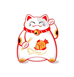 Japanese lucky cat vector image