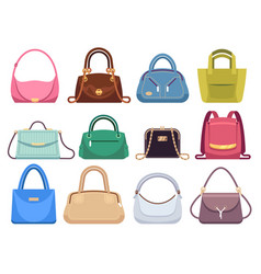ladies bags womens handbags with fashion vector image