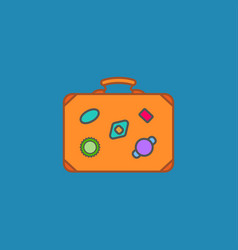 Luggage symbol icon vector