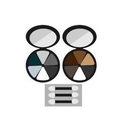makeup colored eye shadow brush flat icon vector image