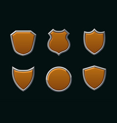 medieval shields in different shape empty vector image