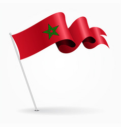 Moroccan pin wavy flag vector