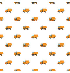 Orange dump truck pattern vector