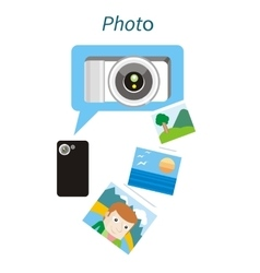 Photo Concept Flat Design Style vector