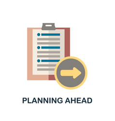 Planning ahead icon simple element from business vector