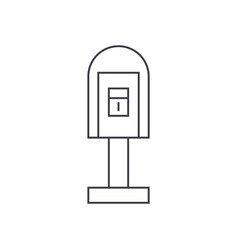 post office box thin line icon concept post vector image