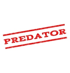 Predator watermark stamp vector