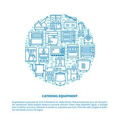 Professional kitchen equipment round concept vector