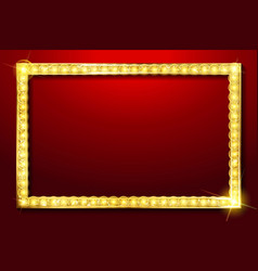 red rectangular retro frame vector image