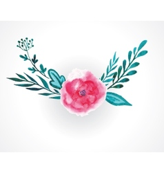 rose watercolor vector image