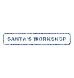 Santa s workshop textile stamp vector