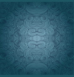 seamless hand-drawn pattern waves background vector image