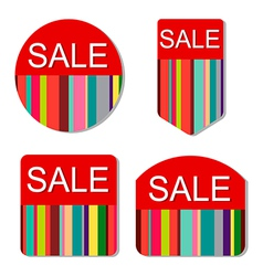Set colorful sale tags vector
