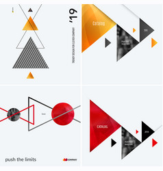 set of modern design abstract templates creative vector image