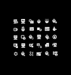 set simple icons software vector image