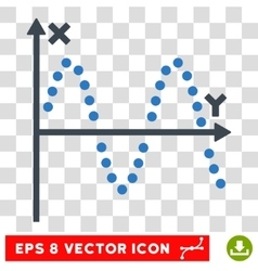 Sine plot eps icon vector