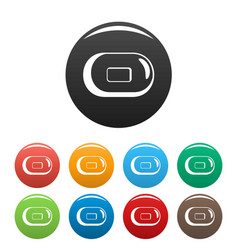 soap icons set color vector image