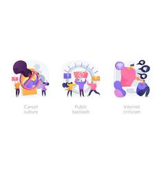social media behavior abstract concept vector image