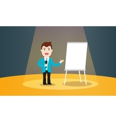 Speaking to the audience concept Business vector