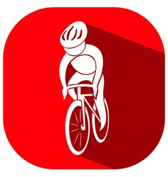 Sport icon for cycling vector image