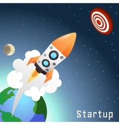 Startup Rocket Concept vector