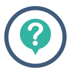 Status flat cobalt and cyan colors rounded vector