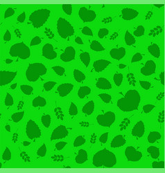Summer green leaves vector
