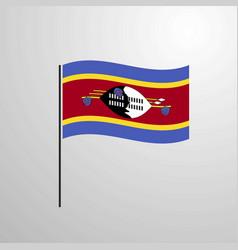 Swaziland waving flag vector