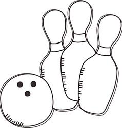 Ten pin bowling icon vector