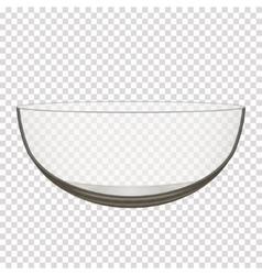 transparent glass bowl vector image