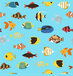 tropical fishes coral reef for aquarium cartoon vector image