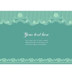vintage lacy border vector image