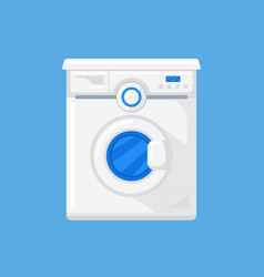 Washing machine in a flat style vector