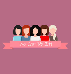 we can do it symbol of female power woman rights vector image