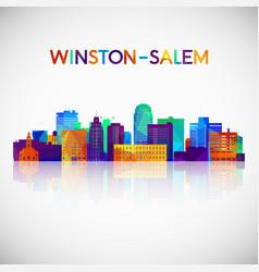 Winstonsalem skyline silhouette in colorful vector