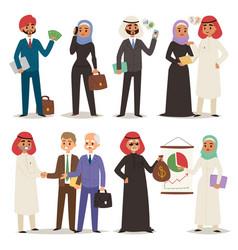 business arabic people teamwork vector image