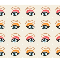 Face features cute seamless pattern eps 10 vector image