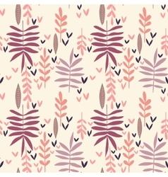 Hand-drawn vintage seamless leaf pattern vector image vector image