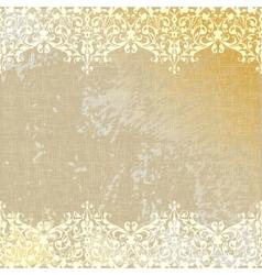 vintage linen canvas burlap floral background vector image vector image