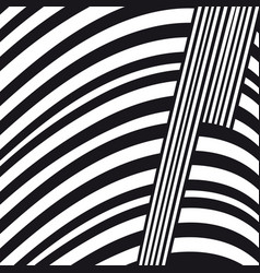 abstract black and white lines composition vector image vector image