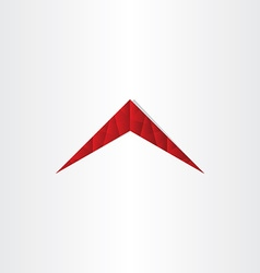 house polygon red roof vector image
