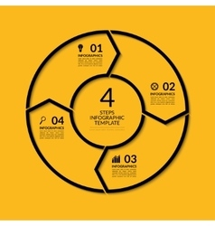 Infographic circle template with 4 steps vector image