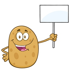 Protesting Potato Cartoon vector image vector image